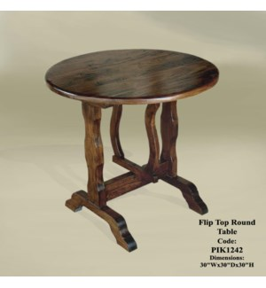 Flip Top Round Table (CH) 30x30x30