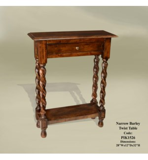 Narrow Barley Twist Table 28x10x32