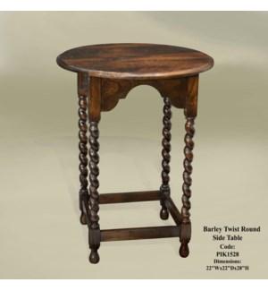 Barley Twist Rd Side Table CH 22x22x28
