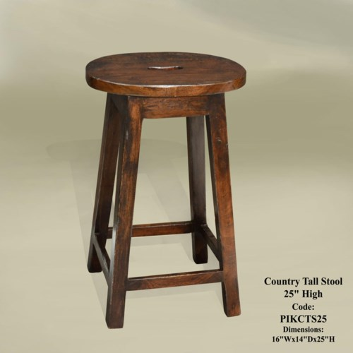 """Country Tall Stool 25"""" H (CH)"""