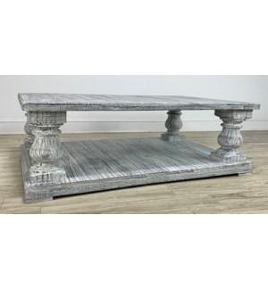 Tornos Coffee Table HW White Rough 60x40x19