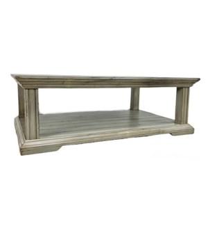 Pedestal Coffee Table Feather Grey 57x37x19