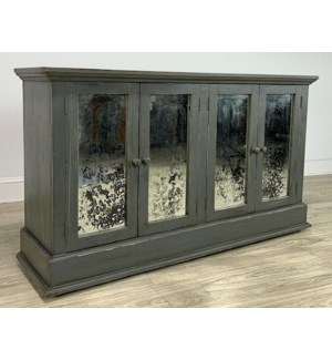 Michael Angelo Console w/4 Drs CharGrey 64x36x17