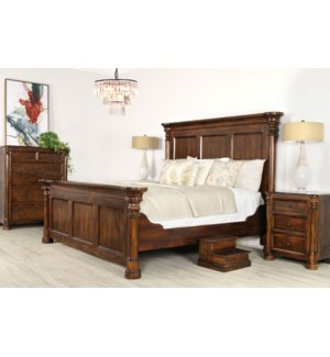 Biedermeier Bed King Nutmeg