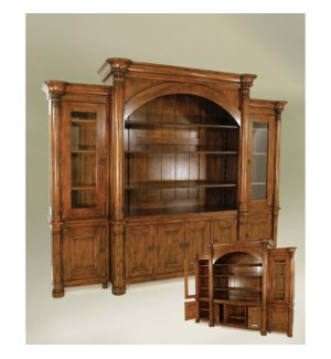 Biedermeier #7 Wall Unit Tobacco