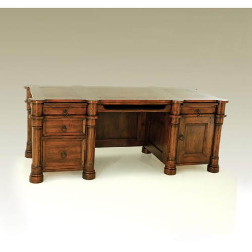 Biedermeier Desk Small Tobacco
