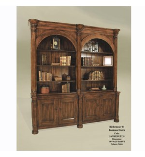 Biedermeier #1 Bookcase/Hutch Tobacco
