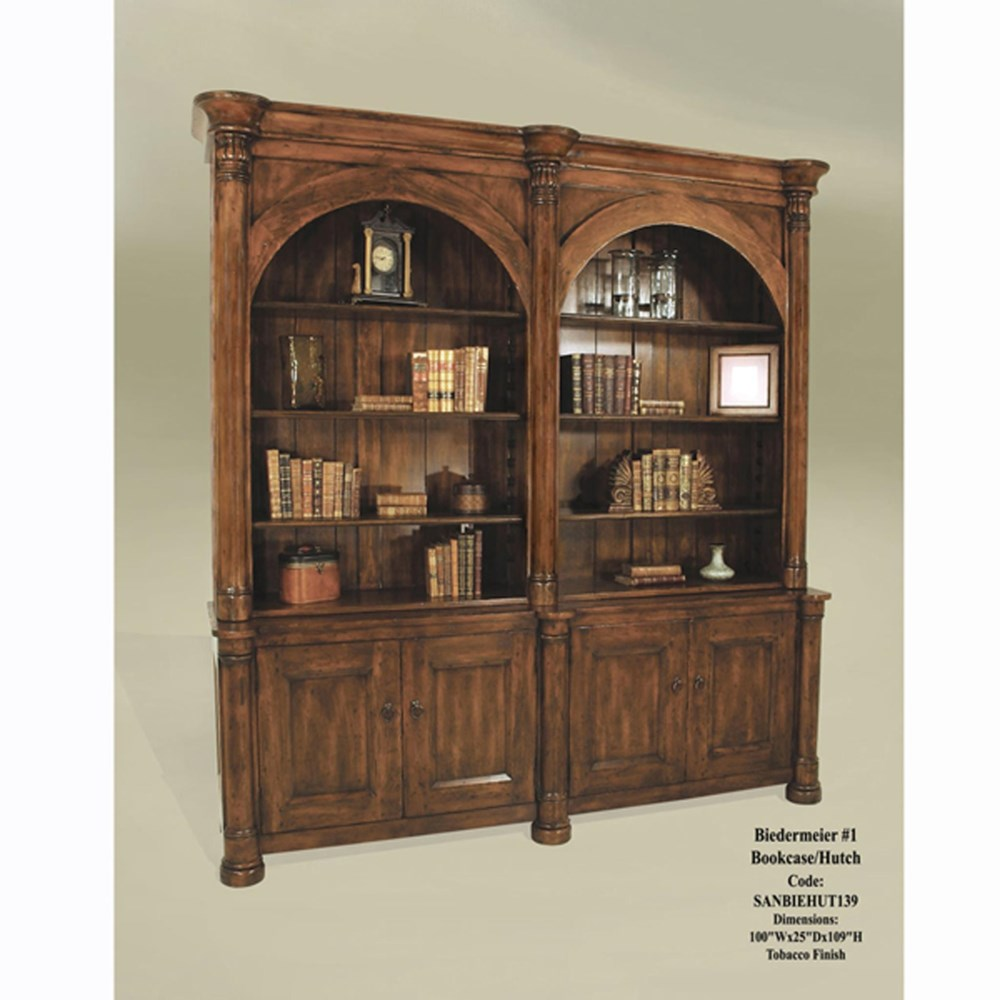 Biedermeier #1 Bookcase/Hutch Tobacco