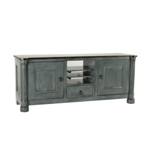 Biedermeier TV Cabinet Large OWBlue/Tuscany
