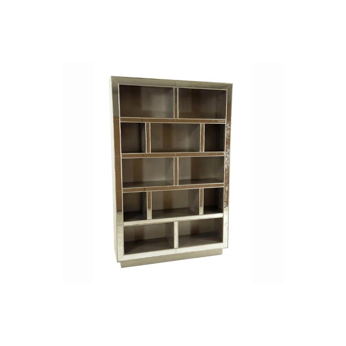 Chesney Bookcase w/Mirror Champagne
