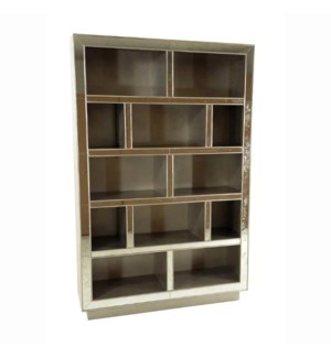 Chesney Bookcase w/Mirror Champagne
