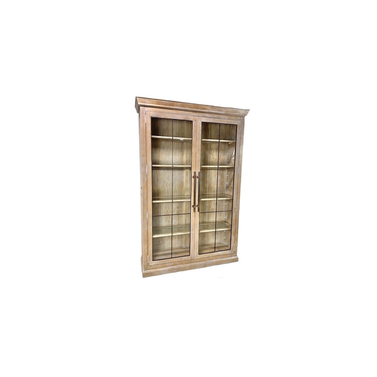 Calvin 2 Bookcase with iron Natural White