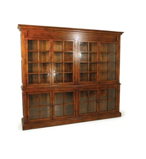 Double Display Cabinet Nutmeg