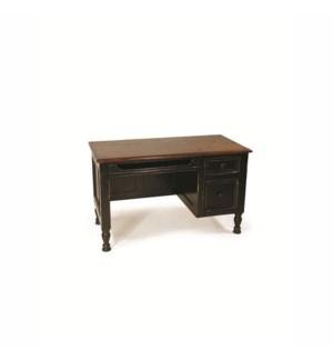 Country Desk Small Dark Walnut/OW Black