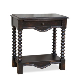 Granada Night Stand Large Rubbed Black