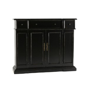 Hartford Console Cabinet Old World Black