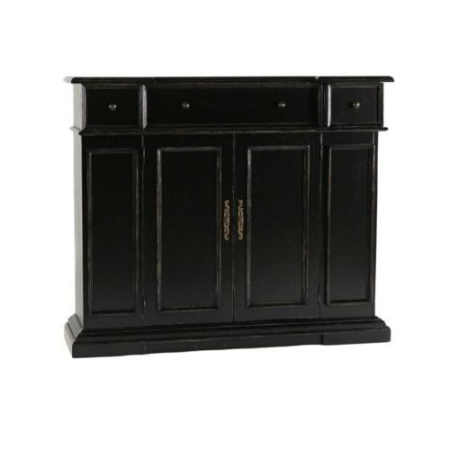 Hartford Console Cabinet Old World Black