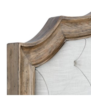 Josephine Bed Queen Tufted Driftwood