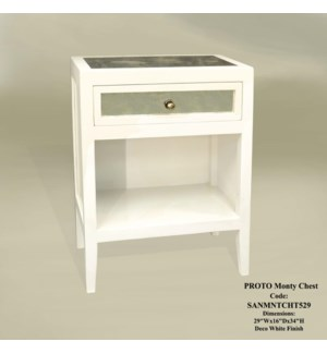 Monty Side Table Deco White