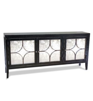 Moderno Triple Buffet Old World Black
