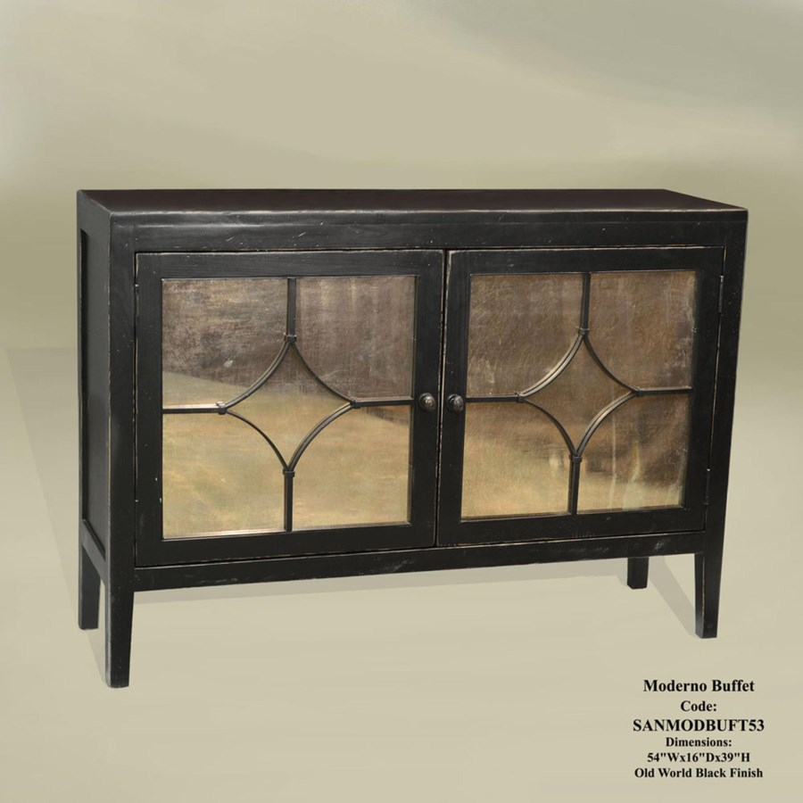 Moderno Buffet 2 Dr Old World Black
