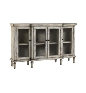 Paris Buffet Seeded Glass/ Rustic White