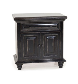 Pilaseca Night Stand Old World Black