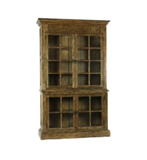 Single Display Cabinet Pine Earth