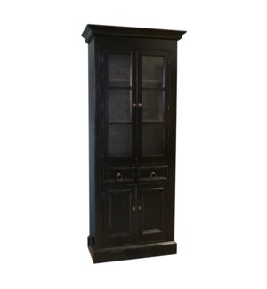 Tall Bath Cabinet Old World Black