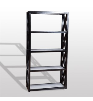 Tiffany Bookcase 78x40x16 Deco Black