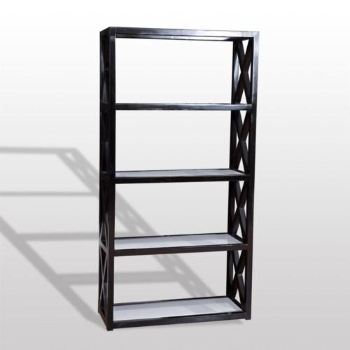 Tiffany Bookcase 78x40x16 Deco Black