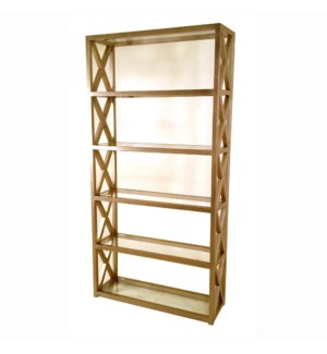 Tiffany Bookcase 96x48x16 Champagne