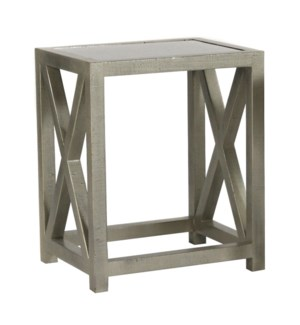 Tiffany End Table w/Legs 20x16x24 Champagne