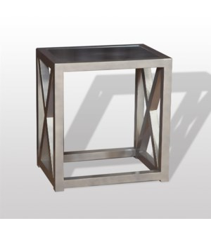 "Tiffany End Table 22""x16""x24"" Champagne"
