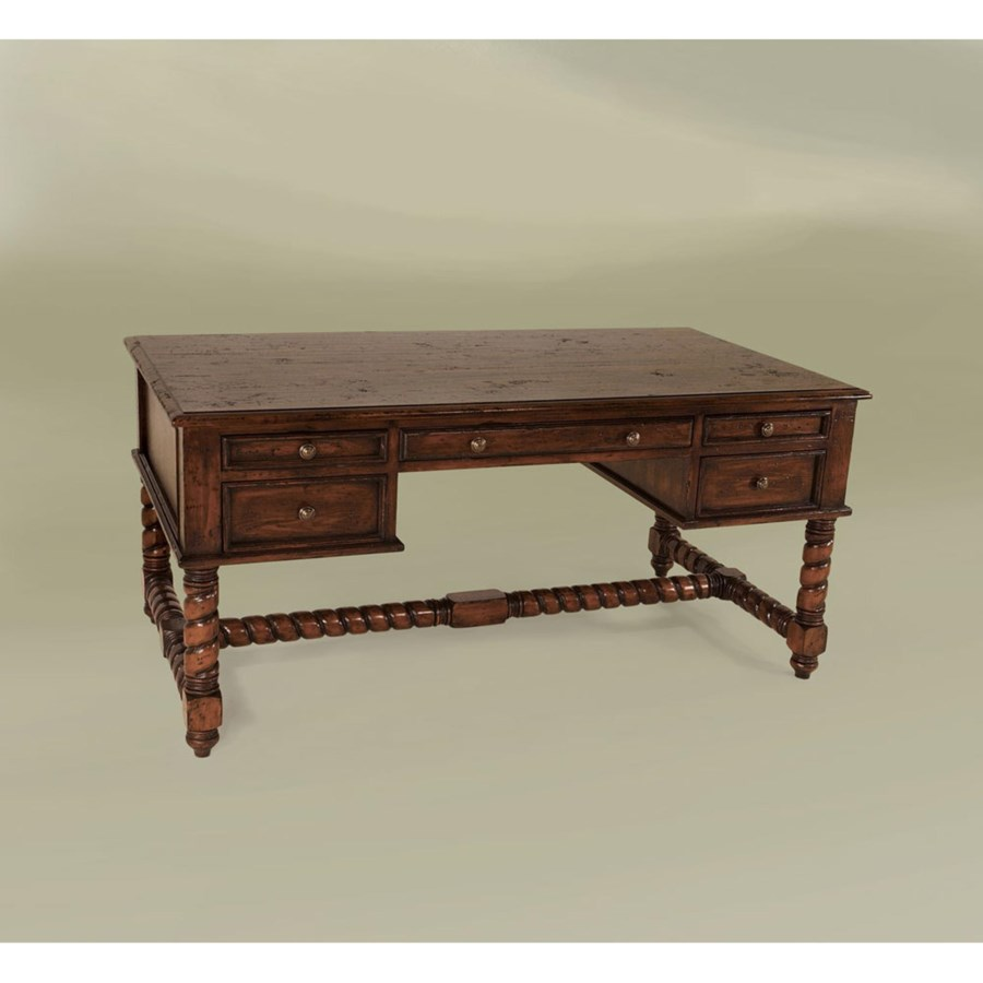 Toledo Desk Large Nutmeg Distressed