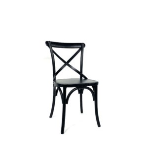 "Bistro ""X"" Chair Black Finish"