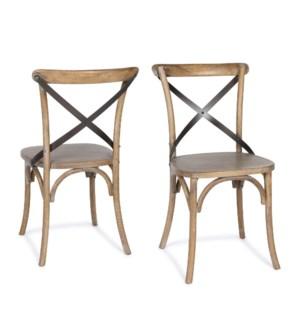"Bistro ""X"" Chair Driftwood"