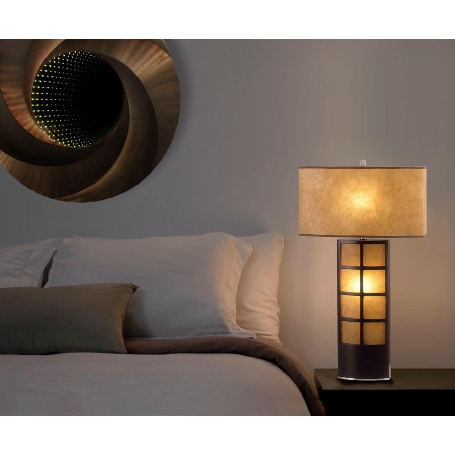 Ventana Table Lamp Dark Brown