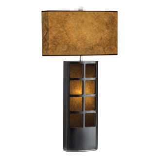 Ventana Table Lamp Dark Brown