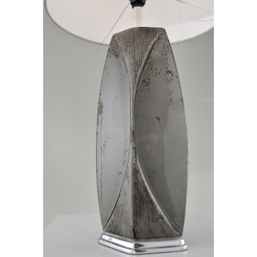 Wings Table Lamp Weathered Charcoal