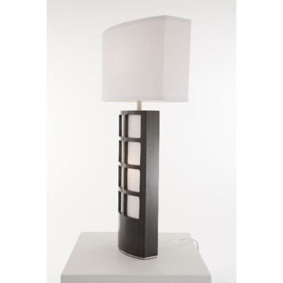 Ventana Table Lamp Charcoal Gray