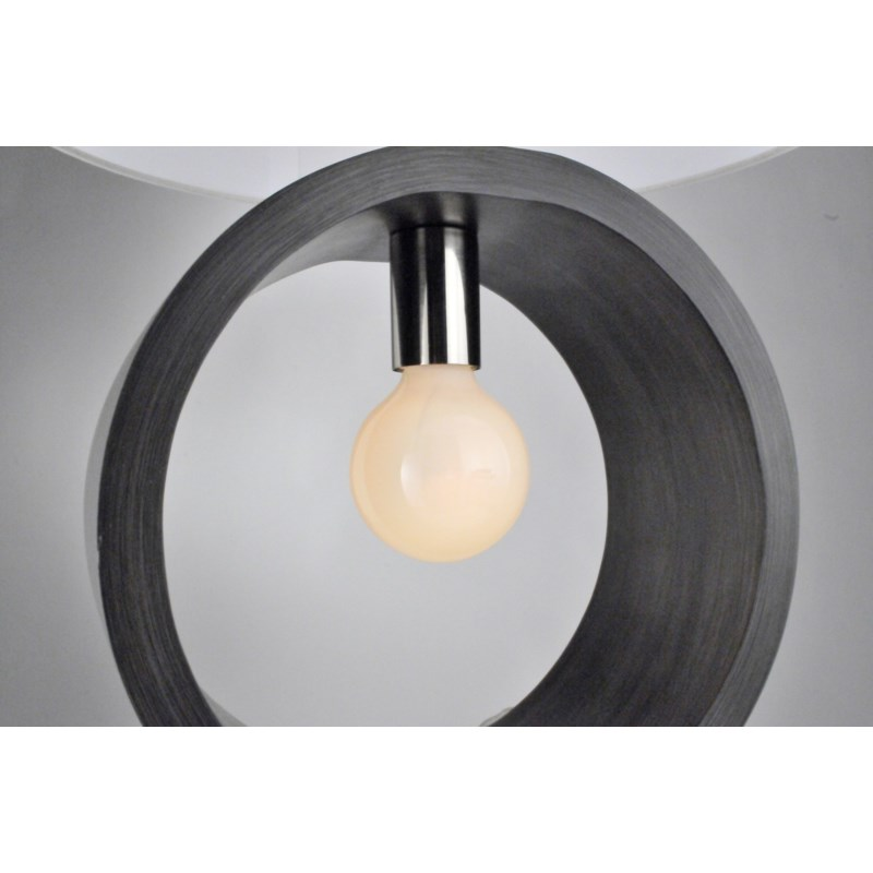 Tracey Ring Table Lamp Charcoal Gray