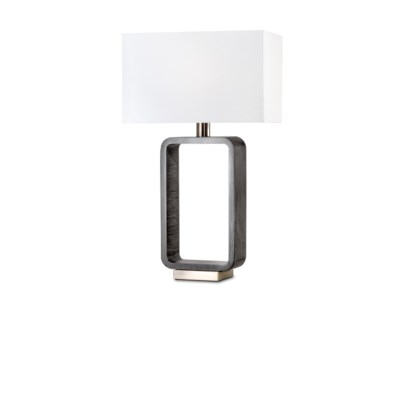 Tracey Rectangular Table Lamp Charcoal Gray