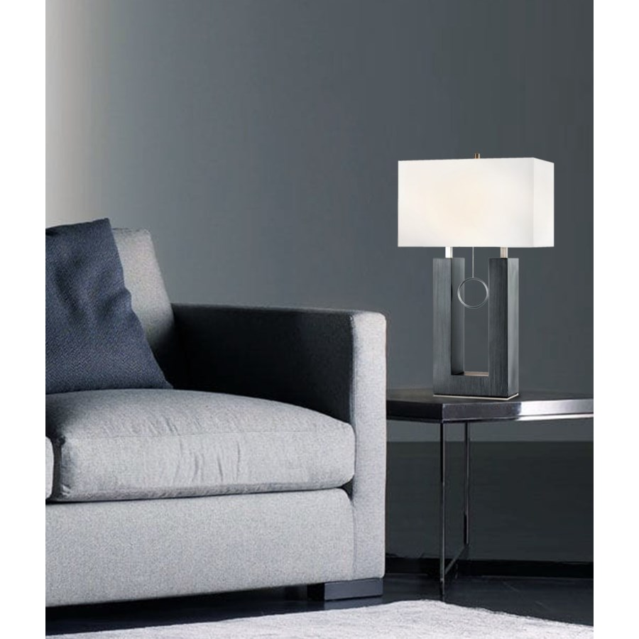 Earring Standing Table Lamp Charcoal Gray