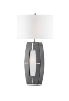Delacy Table Lamp Charcoal Gray