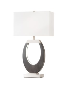 Engagement Table Lamp Charcoal Gray
