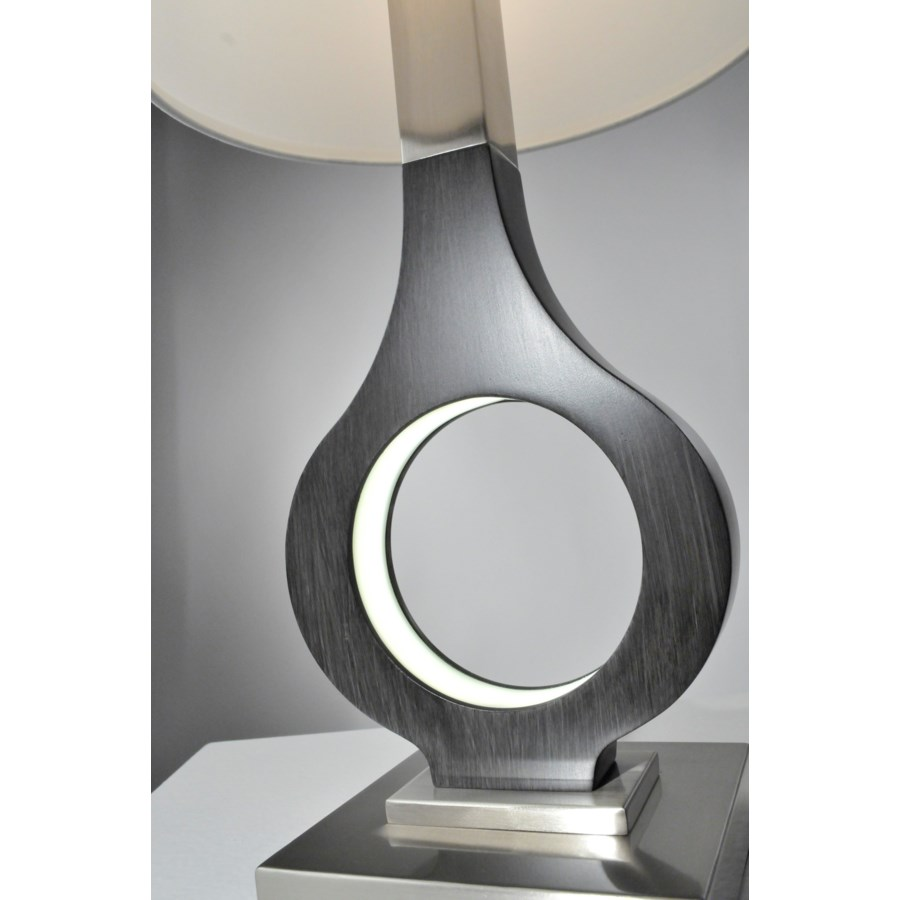 Keyhole Table Lamp Charcoal Gray