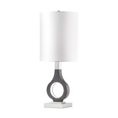 Keyhole Table Lamp Charcoal Gray