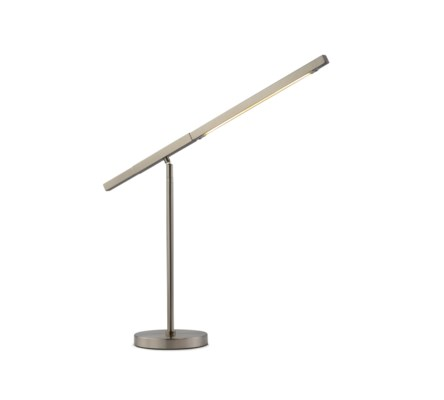 Port Table Lamp Satin Nickel