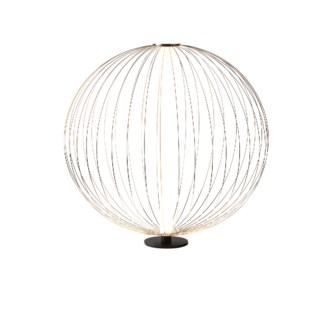 Spokes Table Lamp Round Small Satin Nickel